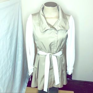 STEVE MADDEN Woman Trench Jacket Two Tones Sz M